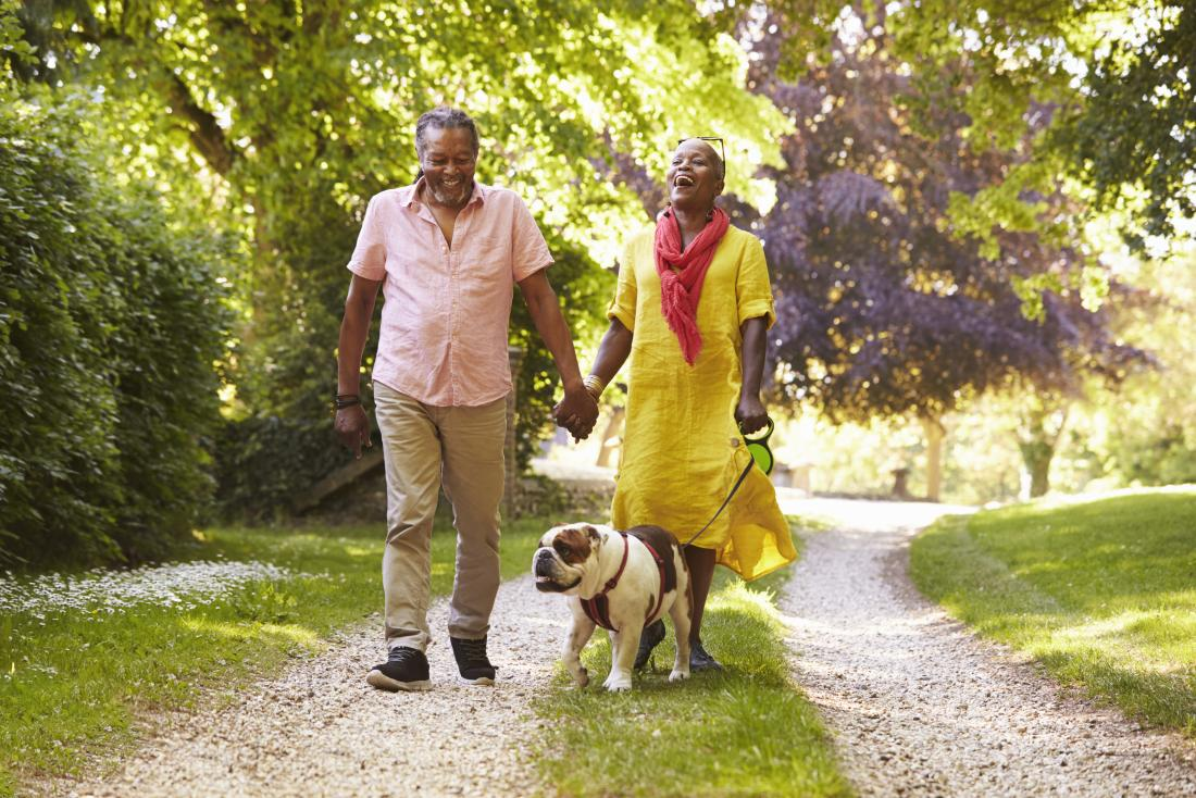 senior-couple-walking-their-dog-in-the-country
